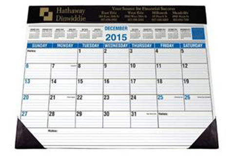 Desk Calendar with Imprint